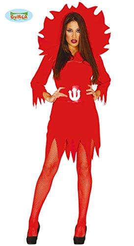 Teufelkostüm mit Flammenmotiv für Damen Gr. M/L, Größe:L