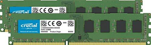 Crucial CT2K25664BD160B 4GB Kit (2GB x 2) Speicher (DDR3L, 1600 MT/s, PC3L-12800, DIMM, 240-Pin)