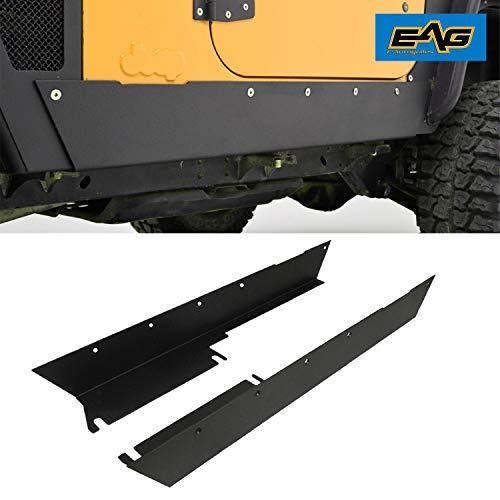 EAG Armor Rocker Panel Guard Rock Sliders 1 Pair Fit for 97-06 Wrangler TJ