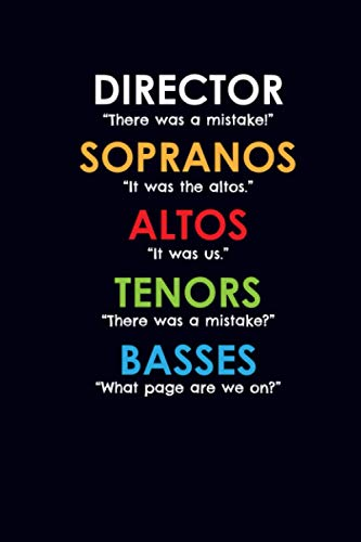 Director Sopranos Altos Tenors Basses: Music Journal Notebook