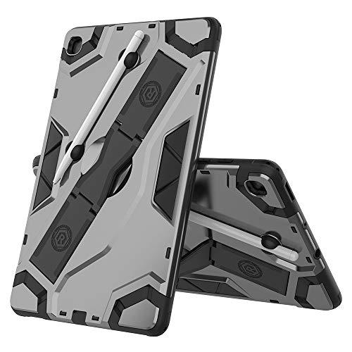 Xyamzhnn Caja de la Tableta, para Samsung Galaxy Tab S6 Lite P610 / P615 Funda Protectora a Prueba de Golpes de la Serie TPU + PC para PC con Titular (Color : Black)