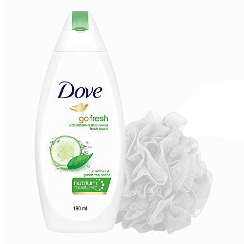 Dove Go Fresh Nourishing Body Wash 190 ml with Free Loofah