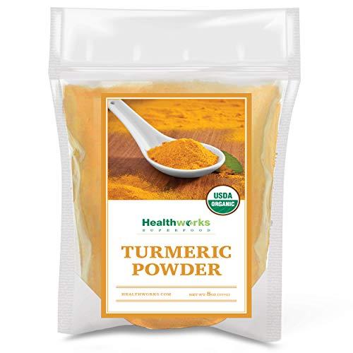 Healthworks Turmeric Powder (8 Ounces)   Ground Raw Organic   Curcumin & Antioxidants   Keto, Paleo, Vegan, Non-GMO   Anti-Inflammatory