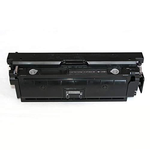 para HP 508A Reemplazo de Cartucho de tóner Compatible para HP Color Laserjet Enterprise M552DN 553N 553DN 553x MFP M577DN 577F 577C 577Z Impresora, sin Fugas Black