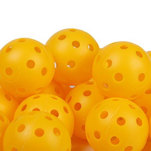 Andux 40pcs balles Plastique de Golf de Pratique Jaune KXQ