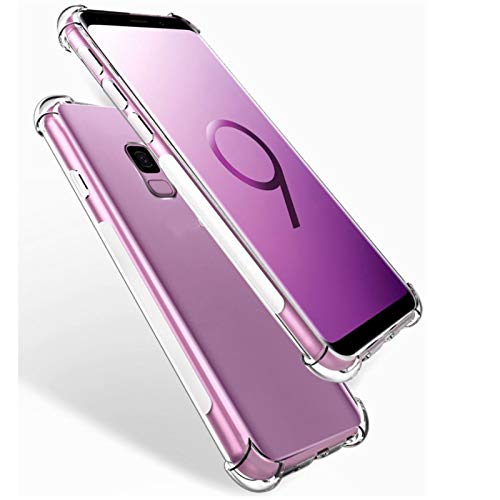 Phone Case 160pcs DHL wholesale Fit For Samsung S6 S7 edge S8 S9 plus Case Coque Anti Knock Clear TPU Silicone Cover Phone Bag G9500 G960 G965 With built-in screen protector ( Material : For S6 edge )