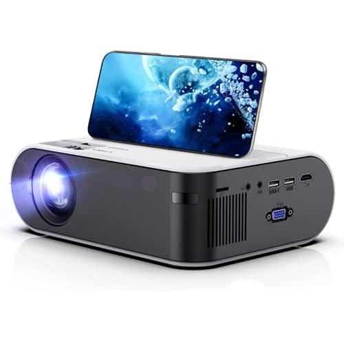 2464/5000 翻译结果 Mini proyector portátil, Compatible con 1080P HD, WiFi, Bluetooth, Compatible con HDMI USB VGA AV TF iOS y Android PS5, Adecuado para Cine en casa Multimedia