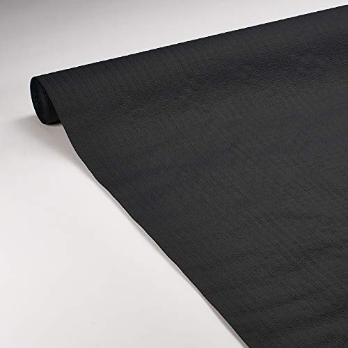 Le Nappage - Nappe de Table en Papier Gaufré Noir - Recyclable et Biodégradable - Nappe Papier Noir en Rouleau de 1,18 x 20 Mètres
