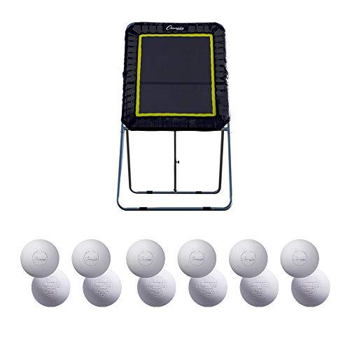 Champion Sports Lacrosse Pro Bounce Back Target (Black) 4'x 3' + 12 Balls
