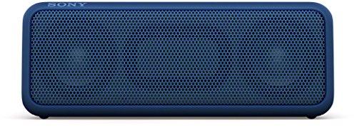 Sony SRS-XB3 tragbarer kabelloser Lautsprecher (Extra-Bass, wasserabweisend, NFC, Bluetooth, 24 Stunden Akkulaufzeit) blau