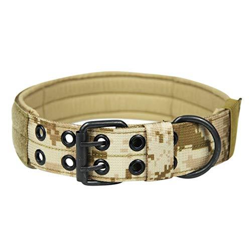 Savlot hondenhalsband verstelbare huisdierhalsband trainingshalsband halsketting riem hondenhalsband met 2 rijen gesp en linnen ring, X-Large, A