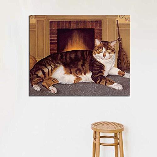 KWzEQ Nórdico Lienzo póster Sala de Estar decoración del hogar Moderno Arte de la Pared Pintura al óleo póster Imagen,Pintura sin Marco,40x50cm