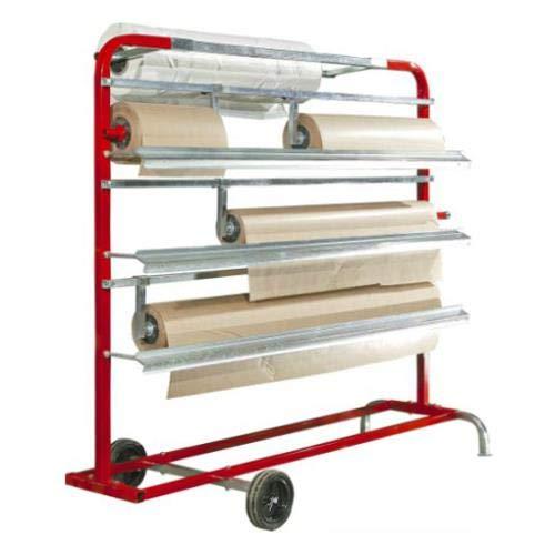 QLS Abdeckpapier Spender Papierrolle Halter Putzrollen Ständer für Putzpapier Papierrollenhalter Bodenständer mit Rollen
