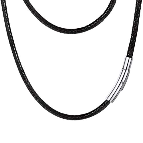 Necklace String Mens Leather Leather Necklace Cord For Jewelry Making PendantBraided Leather Wax Cord Necklaces For Teen Girls
