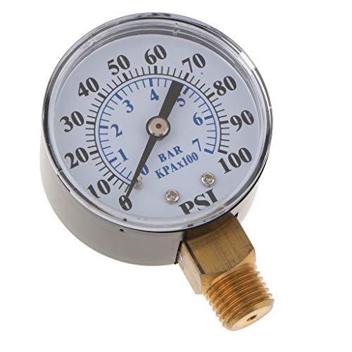 Homyl 1 / 8in Npt Manomètre d'air Vide Pression Mini-Cadran Indicateur Double Échelle - ts-z54