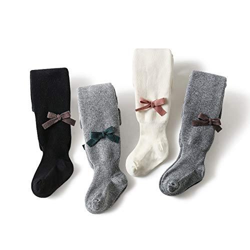 Tauzveok Mallas de punto para niña de invierno, cálidas sin costuras, de algodón, para recién nacidos, recién nacidos, niños pequeños, combinación, S
