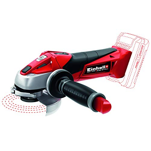 Einhell TE-AG Power X-Change 18-Volt Cordless 4.5-Inch, 8500 RPM Angle Grinder/Cutoff Tool for Grinding and Cutting, Tool Only (Battery + Charger Not Included)