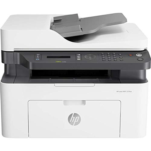 HP Laser 137FWG Imprimante Laser Multifonction (Imprimante Laser, Copieur, Scanner, Fax, WLAN)
