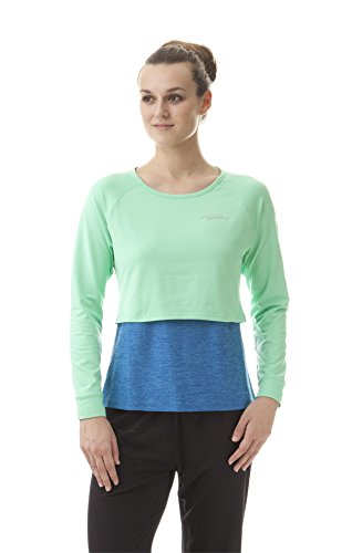 Nord Blanc de Yoga Manches Longues Femme Just Medium Multicolore - Pistazie/Blau