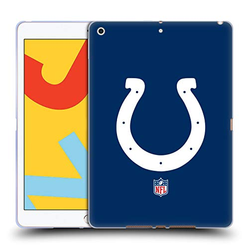 Official NFL Plain Indianapolis Colts Logo Soft Gel Case Compatible for Apple iPad 10.2 (2019)/(2020)