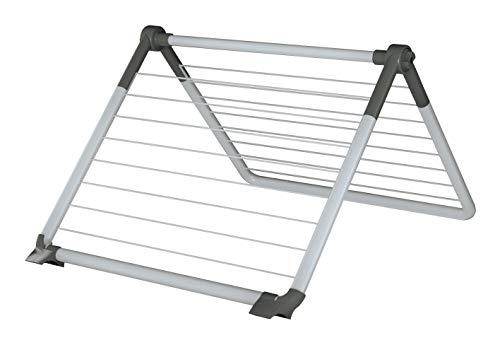 Juwel Superdry Wing Wäscheständer (Trockenlänge 8,8 m, Farbe grau, knickbar 0-180° für Badewanne / Dusche / Balkon) 40805