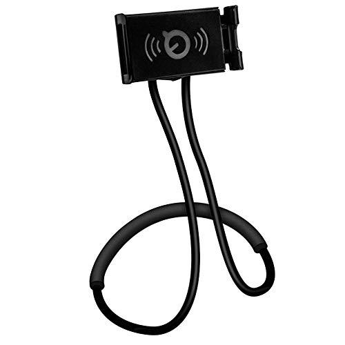 Jorzer Titular del Cuello para Colgar El Teléfono Móvil Soporte Flexible Lazy Brazo Largo para El Teléfono Celular De La Tableta (Negro)