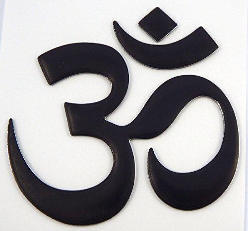Aum Om Yoga Black Decal Emblem 3D Sticker for car Bike 2.5' Flexible