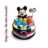 Tarta de pañales Mickey Mouse para niños (Disney)/Diaper Cake  Baby Cake ...