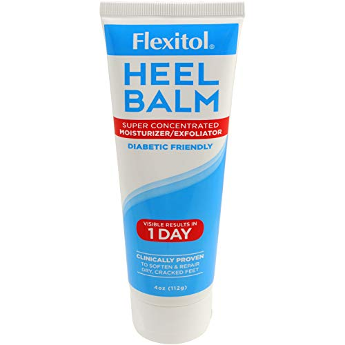 Flexitol Heel Balm 4 Oz Tube, Rich Moisturizing & Exfoliating Foot Cream for Fast Relief of Rough, Dry & Cracked Skin on Heels and Feet. Value 6 Pack