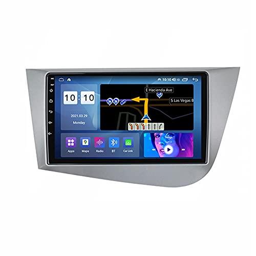 ADMLZQQ GPS Navigation SAT NAV Auto Audio Auto Stereo Android 10 per Seat Leon 2 MK2 2005-2012 FM WiFi Controllo del Volante Vivavoce Bluetooth Telecamera Posteriore,M150s