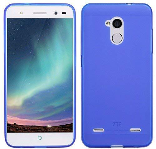 ENERGMiX TPU SchutzHülle kompatibel mit ZTE Blade V7 LITE Silikon Hülle Bumper Zubehör Silikontasche in Blau