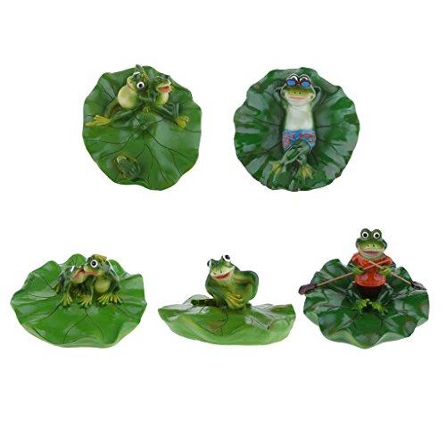 D DOLITY Figurines Micro Paysage Mini-Dollhouse Grenouilles Bonsaï Décoration - Vert 5pcs