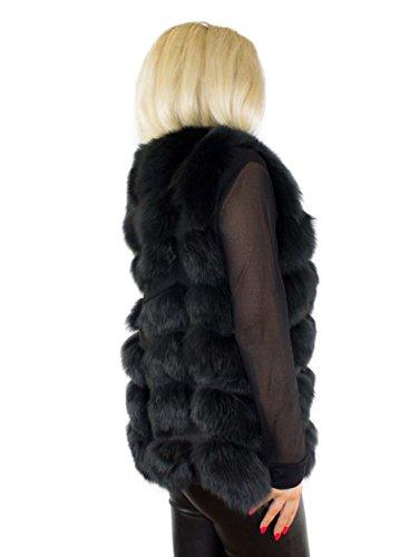 Unbekannt Pelweste Echtfell Echtpelz Weste aus Pelz echtes Fell Damen Mode