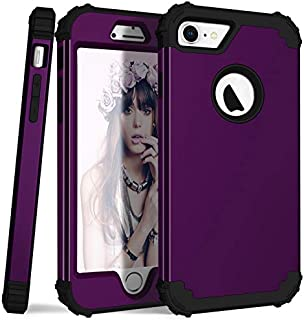 CoverPhone, Series Hybrid Funda Uso Rudo, para iPhone Series 6 al 11 Anti-Golpes Case Impacto Shock Proof (iPhone 6/7/8, UVA)