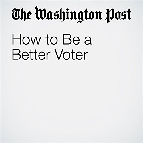 How to Be a Better Voter audiobook cover art
