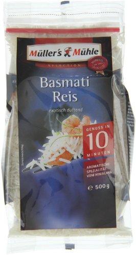 Müller's Mühle Basmati Reis Zip, 6er Pack (6 x 500 g)