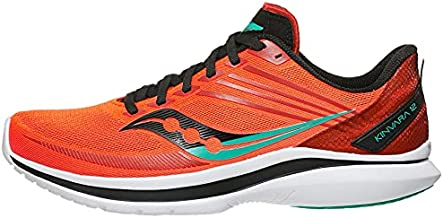 Saucony Men's Kinvara 12 Running Shoe - Color: Vizi/Scarlet - Size: 9.5 - Width: Regular