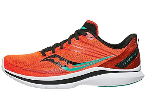 Saucony Men's Kinvara 12 Running Shoe - Color: Vizi/Scarlet - Size: 11.5 - Width: Regular