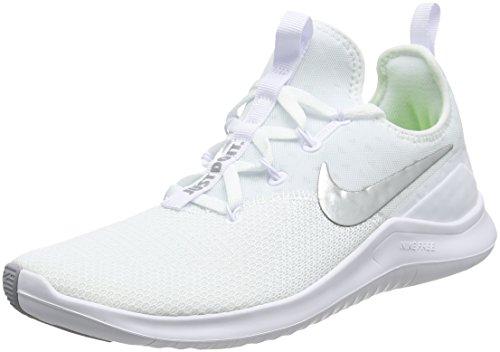 Nike Free Trainer 8, Zapatillas de Deporte para Mujer, Blanco White Metallic Silver 100, 43 EU