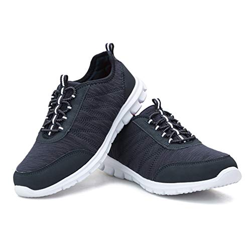 KANCOOLEST Comfortable Running Shoes Casual Gym Sneakers for Women Blue 8