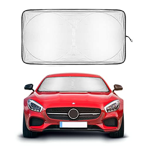 Foldable Premium Car Windshield Sunshade UV Protector Automotive Window Sunshades Fit for Cars, SUVs, Vans, Trucks Keeping Your Vehicle Cooler