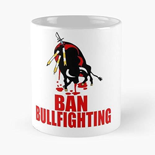 Taza de café de cerámica con diseño de animales de Toros de Liberación Vegetariana Vegana Rights de España