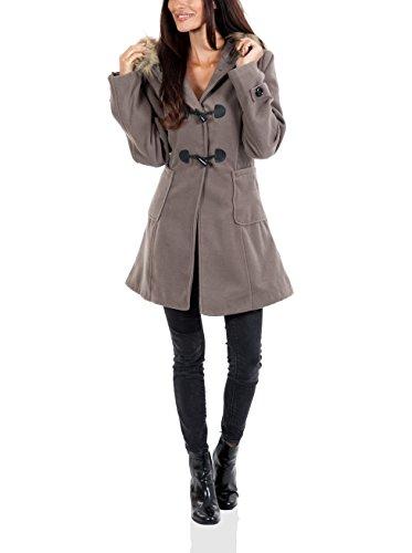 Maison du manteau Abrigo Asia Taupe M