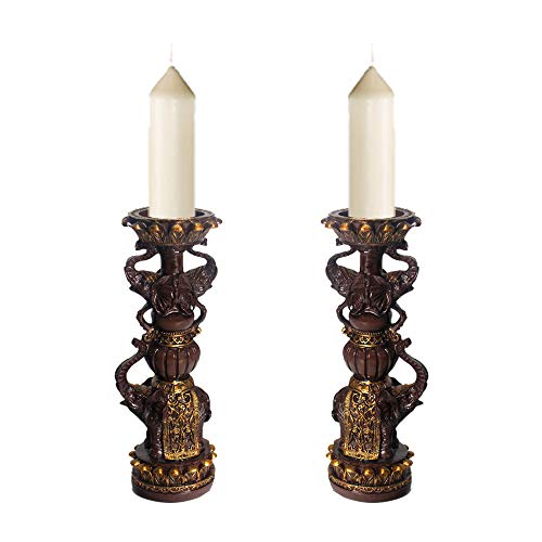 jinhuoba Candle Holder Sets Decor, Retro Candle Holders Classic and Noble Design, Home Coffee Table Decor- Best Dining Table Gift. (Small)