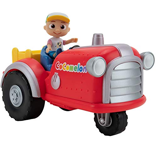 """CoComelon Official Musical Tractor w/ Sounds & Exclusive 3-inch Farm JJ Toy, Play a Clip of """"Old Macdonald"""" Song Plus More Sounds and Phrases"""