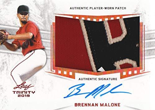 2019 Leaf Trinity Baseball PATCH AUTO #PA-BM1 Brennan Malone