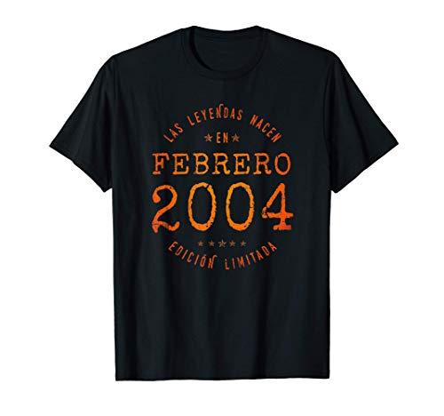 Las Leyendas nacen en Febrero de 2004 - Regalo de 17 años Camiseta