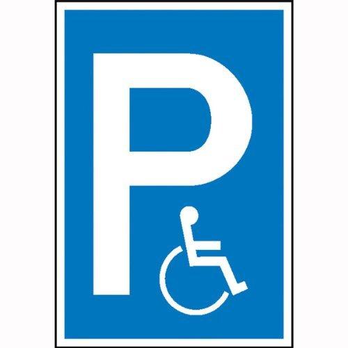 INDIGOS UG - Parkplatzschild Symbol: P - Rollstuhlfahrer (Symbol), Kunststoff, 15x25 cm
