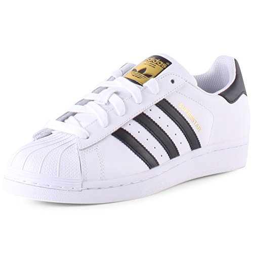 Adidas Originals Superstar, Chaussures Sneaker Mixte Enfant - Blanc (ftwr White/core Black/ftwr White), 38 EU