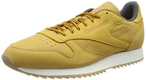 Reebok Herren Cl Leather Ripple Wp Fitnessschuhe, Golden Golden Wheat Urban Graue Kreide, 40.5 EU
